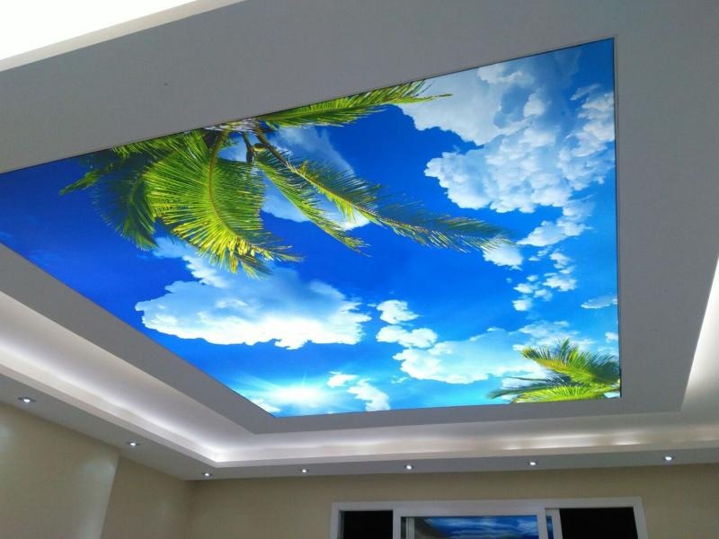 Натяжные потолки картинки облака